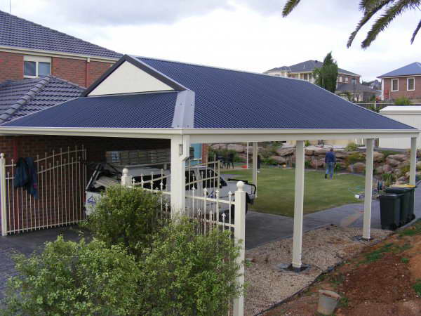 Patios - Gold Coast - Brisbane - Dutch Gable Carport Kit in Custom Orb