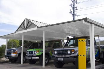 Patios - Gold Coast - Brisbane - Flat Attached Carport Kit 6m x 6m